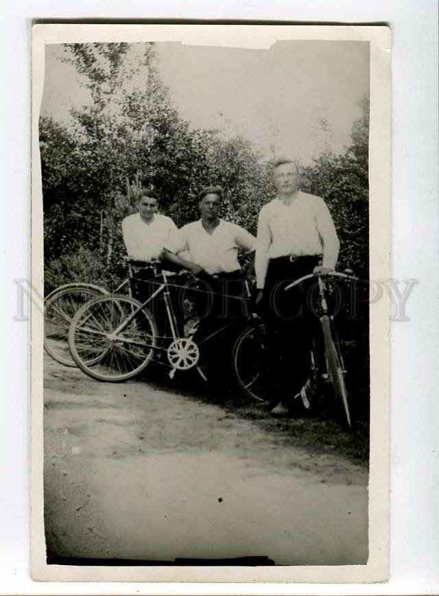 3014147-Men-with-BICYCLES-Vintage-REAL-PHOTO